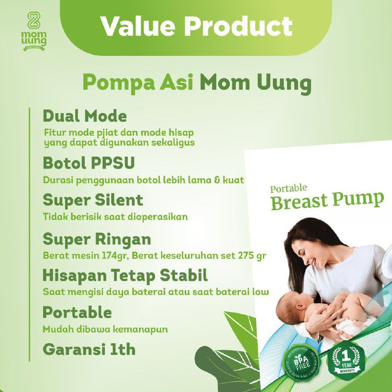 value product breast pump mom uung